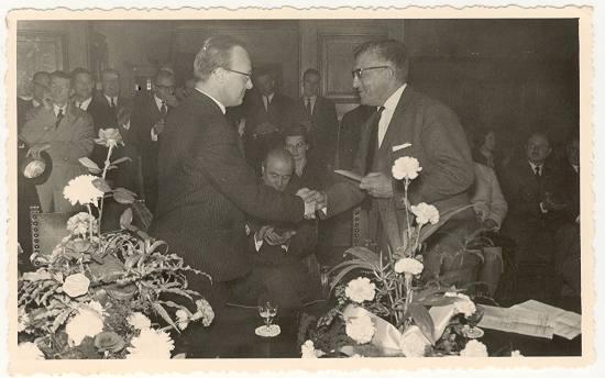 Daniël Decleir en voorzitter KBAB (Mingels F.)